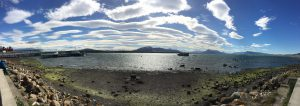 Panorama vom Hafen in Puerto Natales