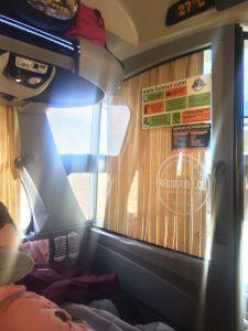 Im Bus nach El Calfate