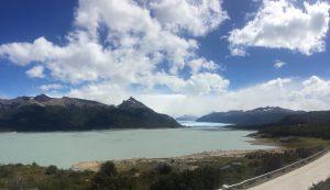 erster Blick auf den Perito Moreno