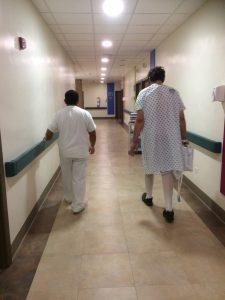 Die erste Runde im Krankenhaus