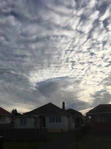 Wolken über Auckland
