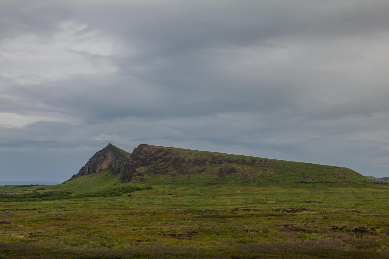 Osterinsel: am Vulkan Puakatike/Poike - Blick auf den Ranu Raraku