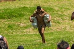 "Tapati Rapa Nui - ""Triathlon"" am Rano Raraku - fast am Ziel"