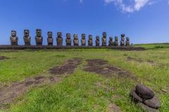 Rapa Nui - Tongariki - sind schon groß die Moais