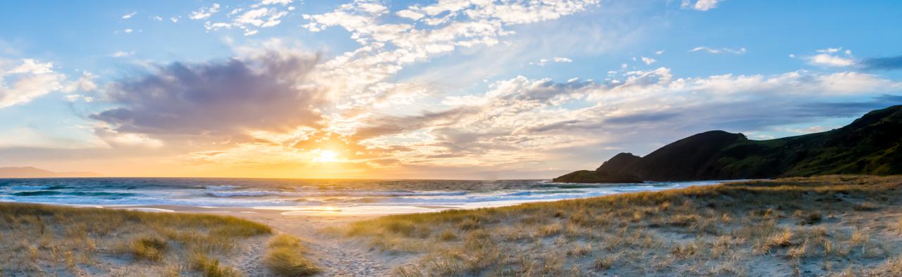 Neuseeland - Nordinsel - Northland - Sonnenuntergang an der Spirits Bay