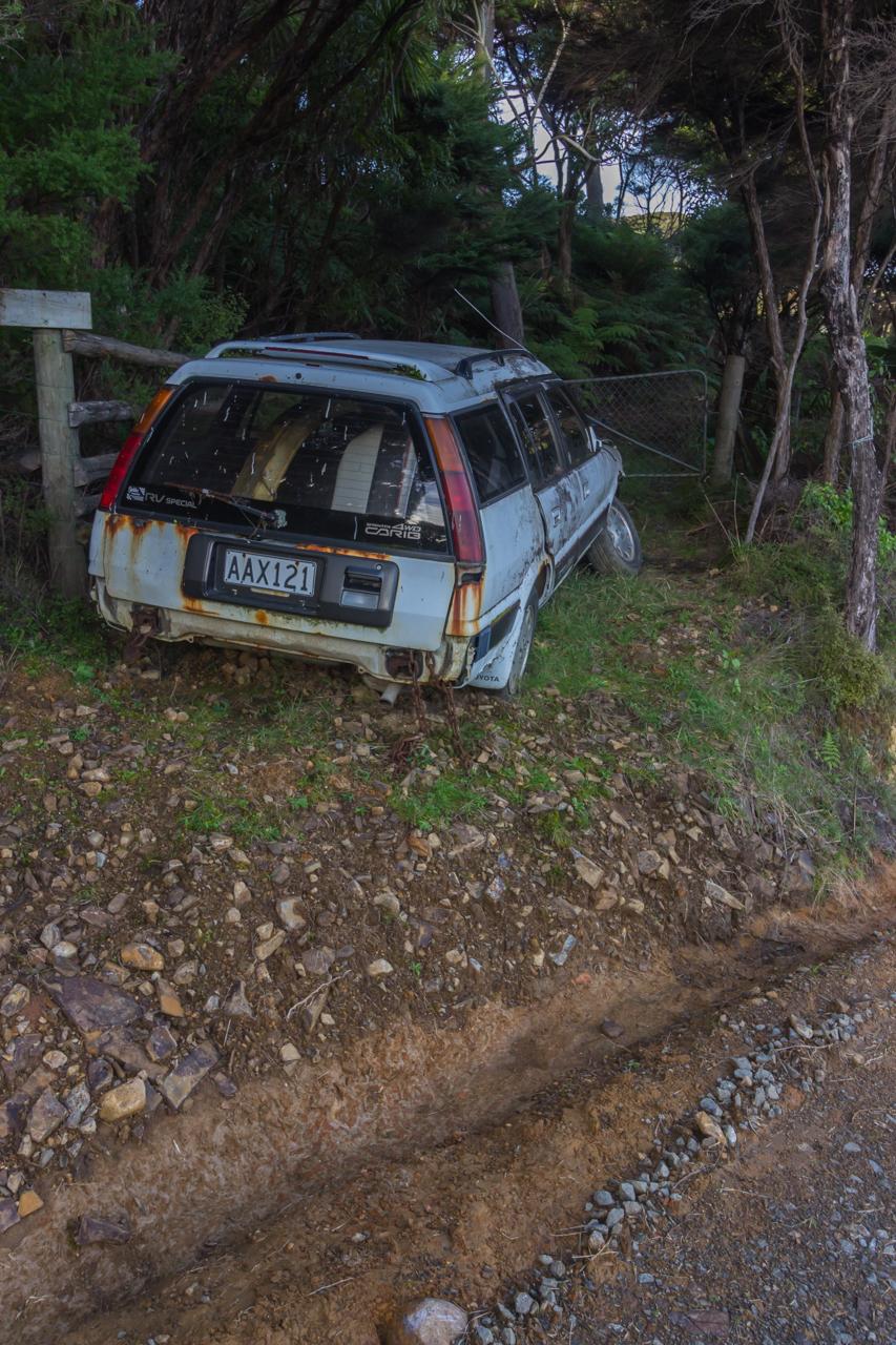 Neuseeland - Great Barrier Island - an einigen Stellen geht es nur mit Allrad