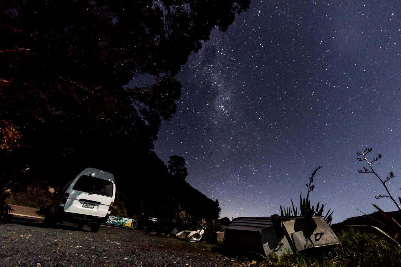 Neuseeland - Great Barrier Island - Port Fitzroy bei Nacht