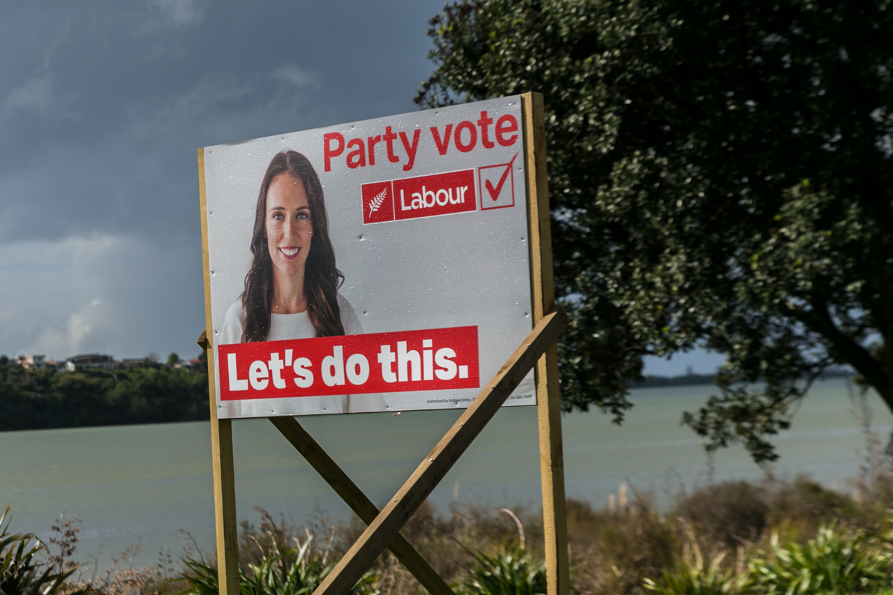 Neuseeland - Nordinsel - Ostküste - Bay of Plenty - Tauranga - inhaltsloser Wahlkampf