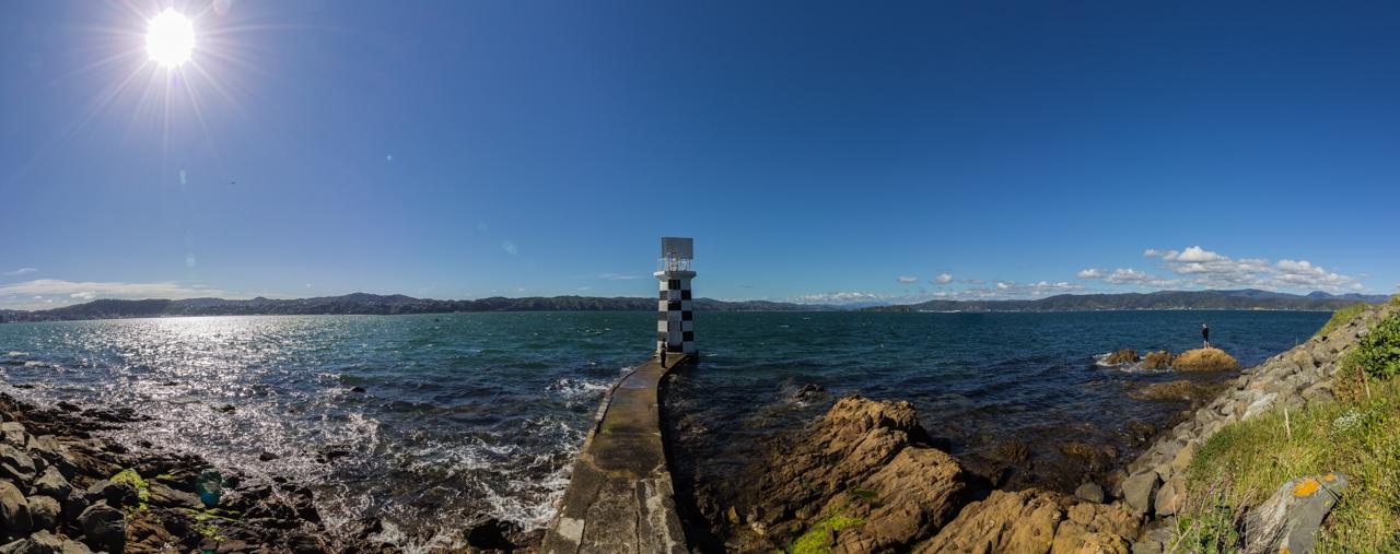 Neuseeland - Nordinsel - Wellington - Point Halswell Leuchtturm