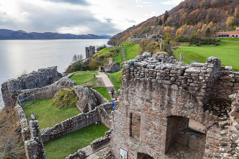 Schottland - Highlands - Loch Ness - Urquhart Castle