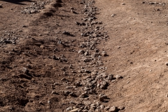 Grenze zwischen Chile und Bolivien am Fuß des Juriques