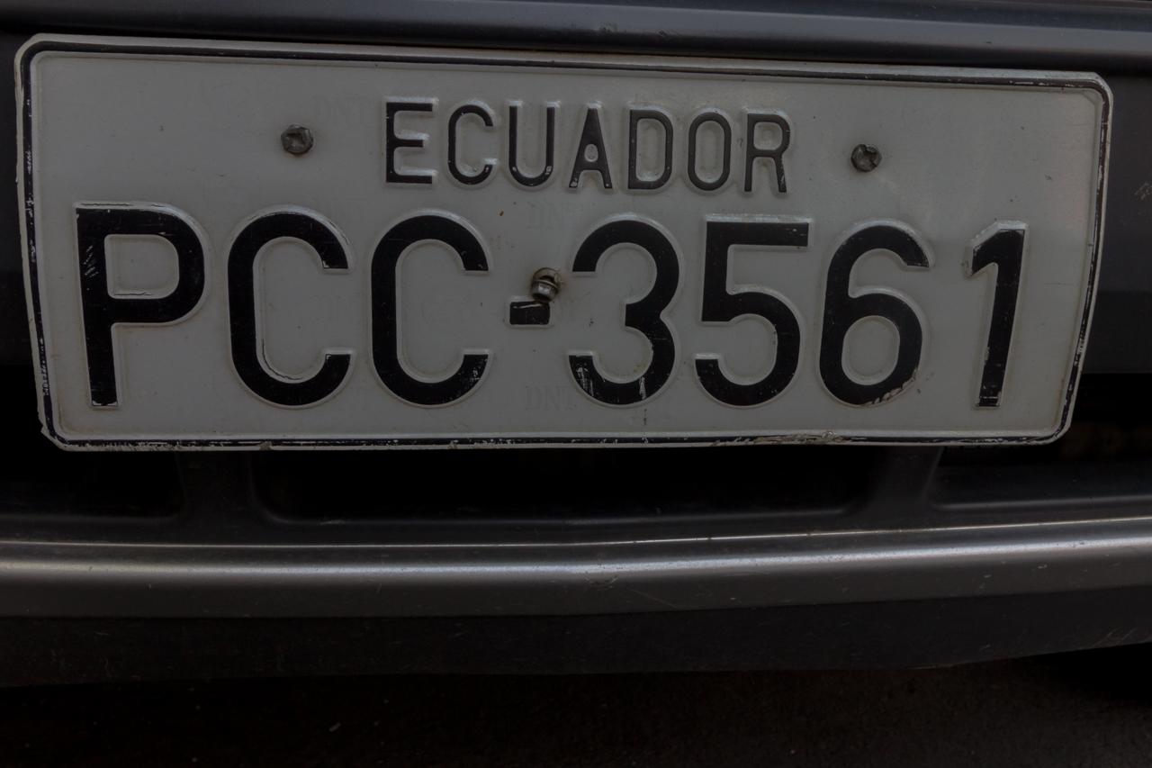 Riobamba - aus jedem Land ein Nummernschild-Foto :-)