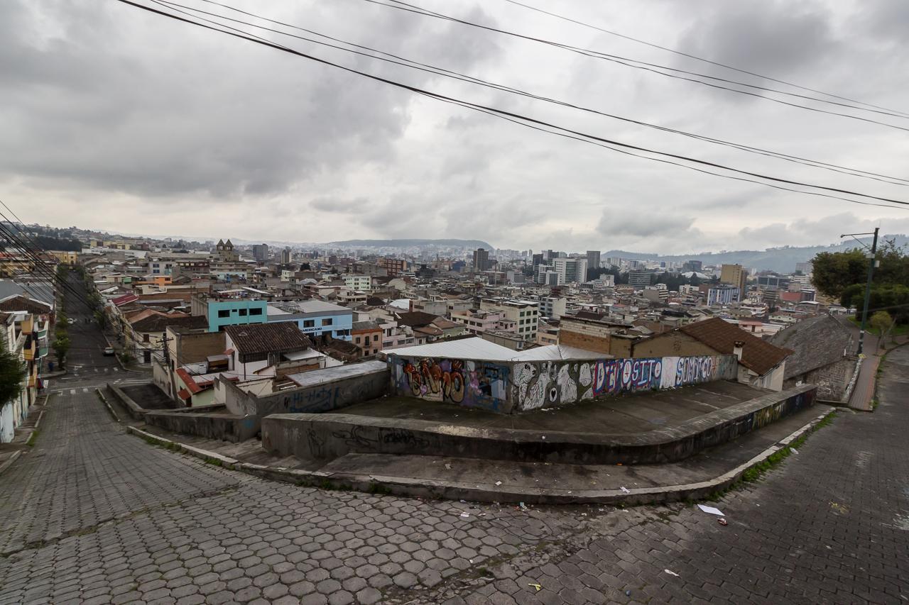 Blick auf Quito