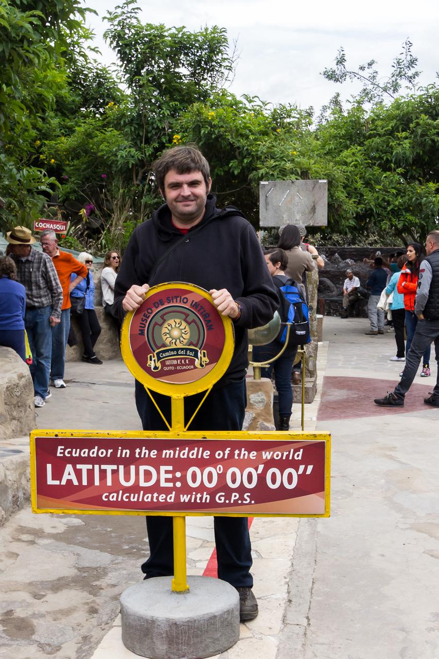 Quito, INTIÑAN MUSEUM, hier geht die Äquator-Linie direkt durch