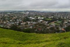 Auckland - Mount Eden - Blick auf die Stadt ohne Highlights :-)