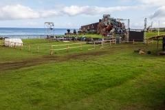Osterinsel - Hanga Roa: der Haupt-Festplatz zum Tapati Rapa Nui