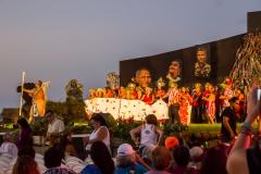 Osterinsel - Hanga Roa: die Eröffnung des Tapati Festivals