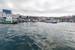 Ein Teil von Valparaiso vom Hafen aus.