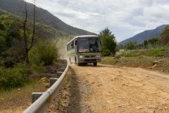 Einer der Busse, mit dem man ohne Auto in den Park kommt.