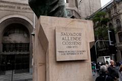 Das umstrittene Denkmal von Allende