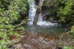 Der zweite Wasserfall.