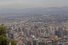 ein Teil von Santiago von oben