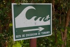 Nationalpark Chiloé - und auch mitten im Park wieder Tsunami-Fluchtwege