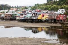Castro - Häuser in der Bucht bei Ebbe