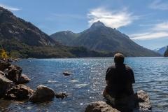 Bariloche - Park Llao Llao - Füße abkühlen und Natur anschauen