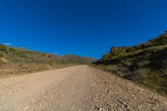 Ruta 63 zum Paso Córdoba, Argentinien - und durch eine steppenartige Landschaft