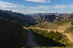 Ruta 63 zum Paso Córdoba, Argentinien - super Aussicht auf dem Pass