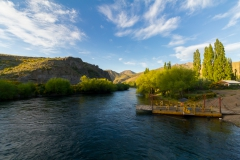 Hängebrücke über den Rio Limay, Argentinien - eine Fähre hätte es auch gegeben
