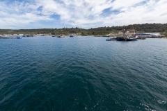 Blick auf einen Teil des Hafens von Puerto Montt...