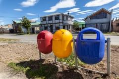 Puerto Natales - und Mülltrennung. Das haben wir noch nicht so oft gesehen