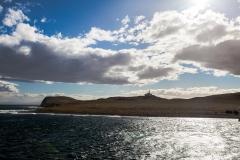 Blick auf die Insel von der Magellanstraße aus
