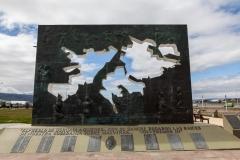 Ushuaia - an der Plaza Islas Malvinas (Falklandinseln)