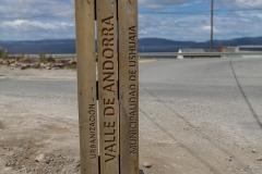 Ushuaia - der Eingang zum Valle Andorra, dort wo unsere zweite Unterkunft etwas außerhalb war