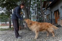 Ushuaia - Fuchur wird mit Keksen belohnt :-)