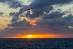 Der Sonnenuntergang am zweiten Tag ...