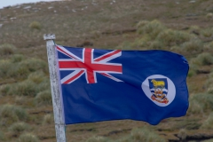 West Point Island - die Fahne der Falklandinseln