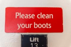 Schuhe desinfizieren vor und nach jedem Landgang