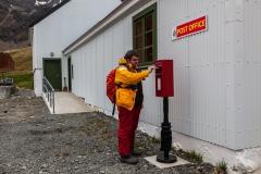 Grytviken: englische Briefkästen