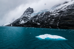 im Drygalski Fjord - Eisblöcke kommen uns entgegen