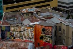 Streetart auch hoch auf den Dächern