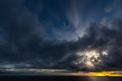 Sonnenuntergang am Brown Bluff