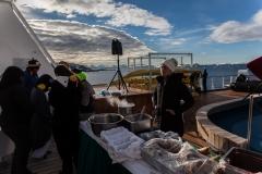 Cierva Cove: Grillparty an Bord