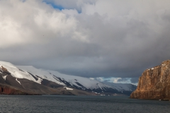 Deception Island: Einfahrt in den Vulkankegel
