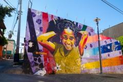 Die Graffiti haben auch einen praktischen Grund. Hat eine Wand ein (richtiges) Graffiti ...