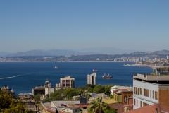 ... einer guten Aussicht über Valparaiso