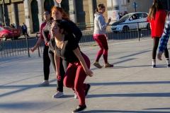 Open Air Tanzübungen haben wir...